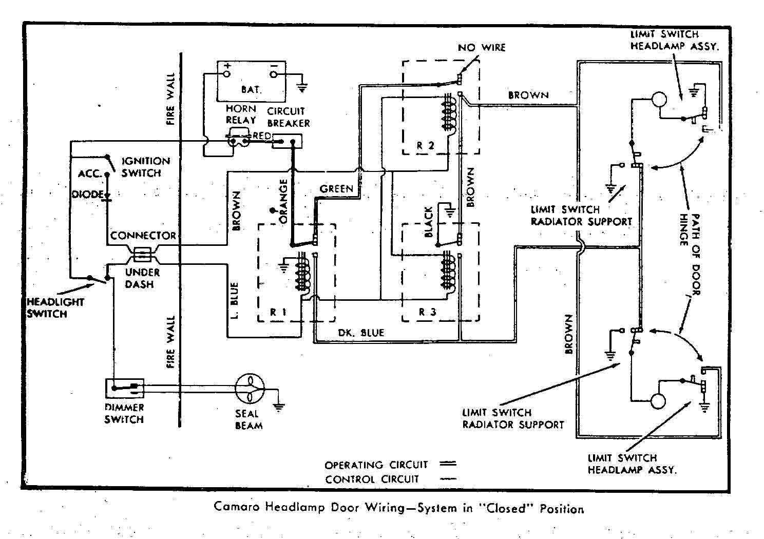 Camaro Hideaway Headlight Wiring Diagram
