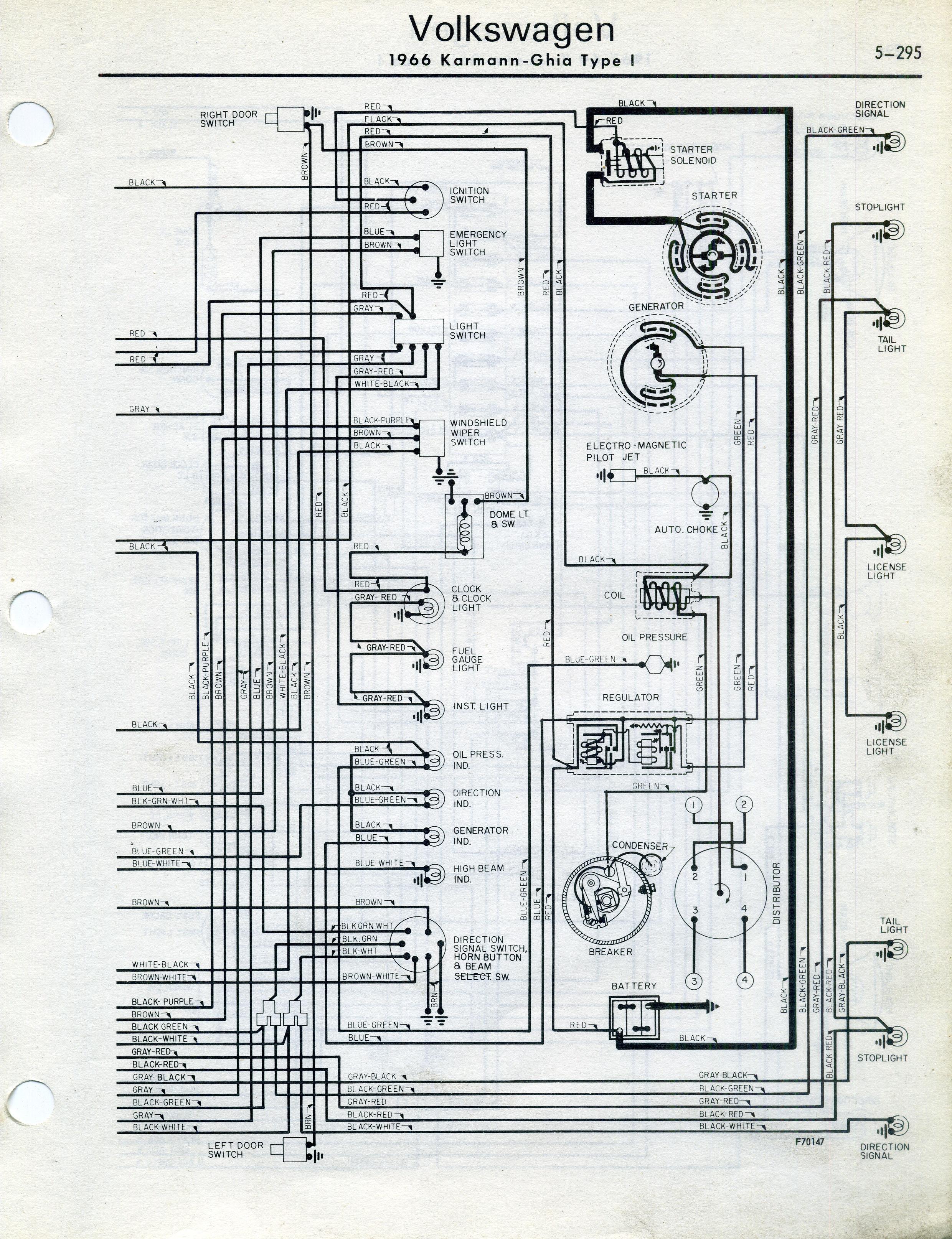 Karmann Ghia Wiring Diagram