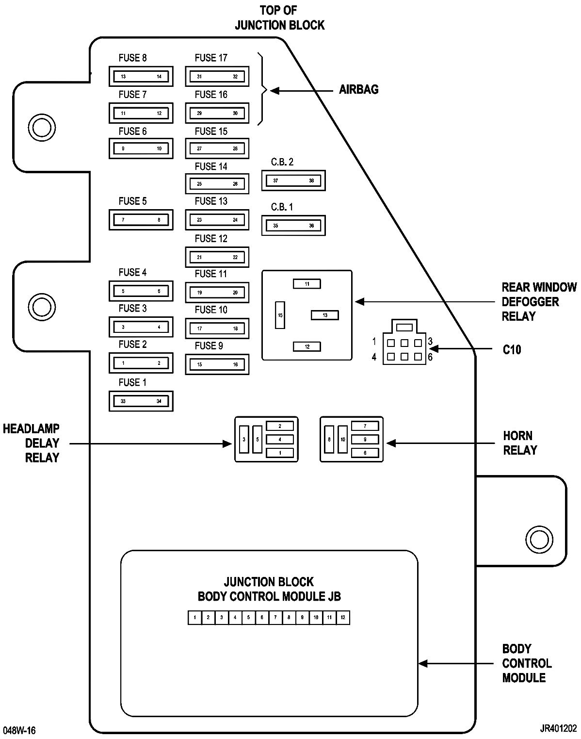 Chrysler Sebring Convertible Fuse Box Diagram