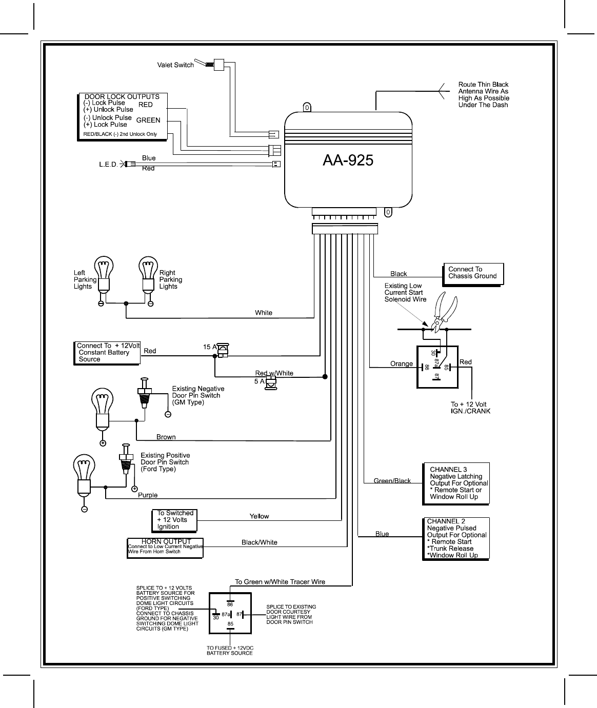 Audiovox Prestige Wiring Diagram
