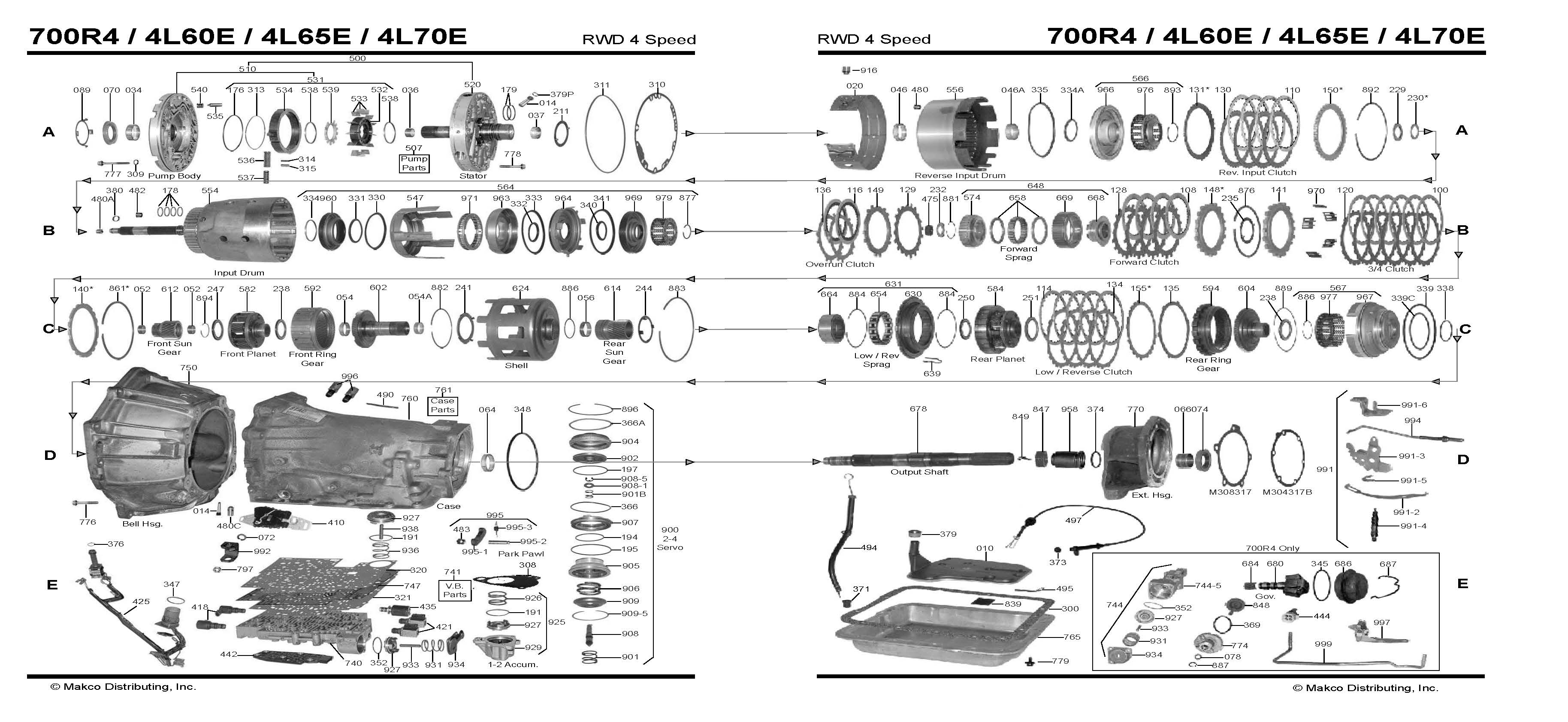 Chevy 700r Transmission Diagram