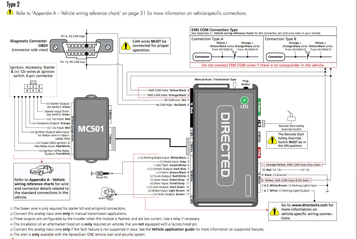 Directed 4x03 Remote Start Wiring Diagram