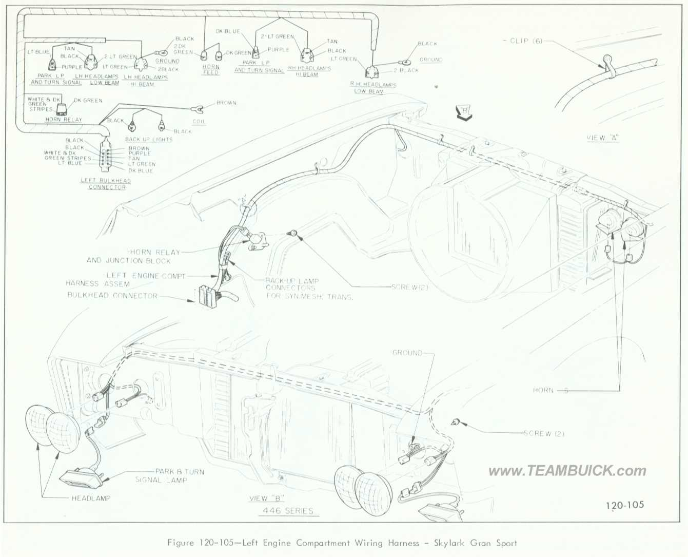 Engine Compartment Wiring Diagram For Buick Skylark