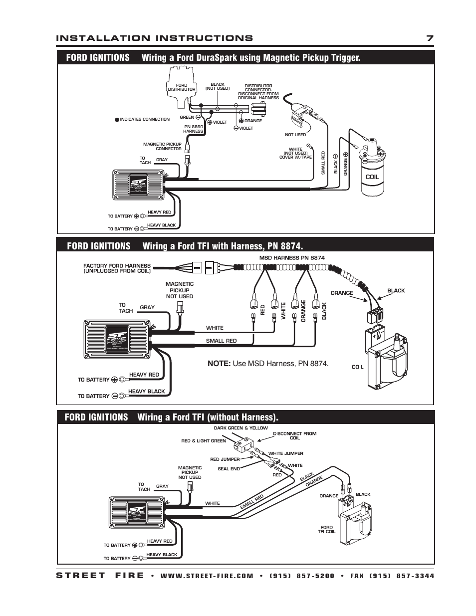 Msd Streetfire Wiring Diagram For Chevy With Magnetic