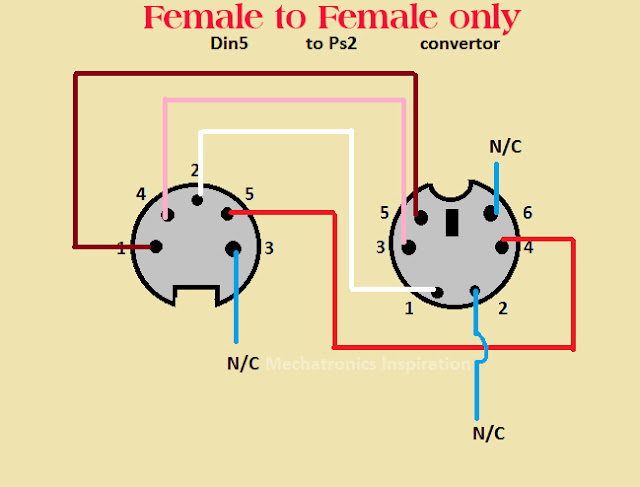 male usb to ps 2 wiring diagram  for les paul electric