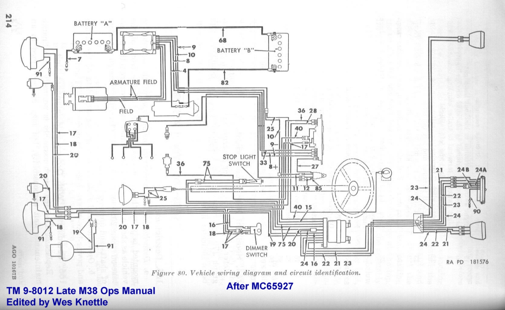 Willys M38 Wiring Diagram With Ignition Switch Wes K