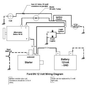 Wiring Diagram For 6v Tractor Voltage Regulator Positive Ground Solenoid Start