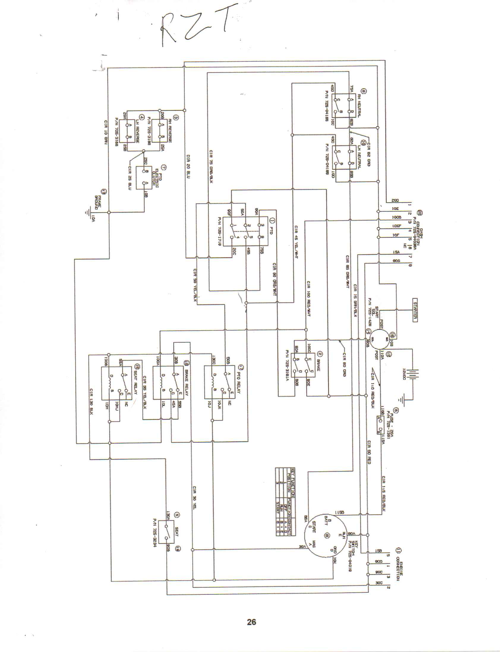 Wiring Diagram For A Cub Cadet Rzt 50