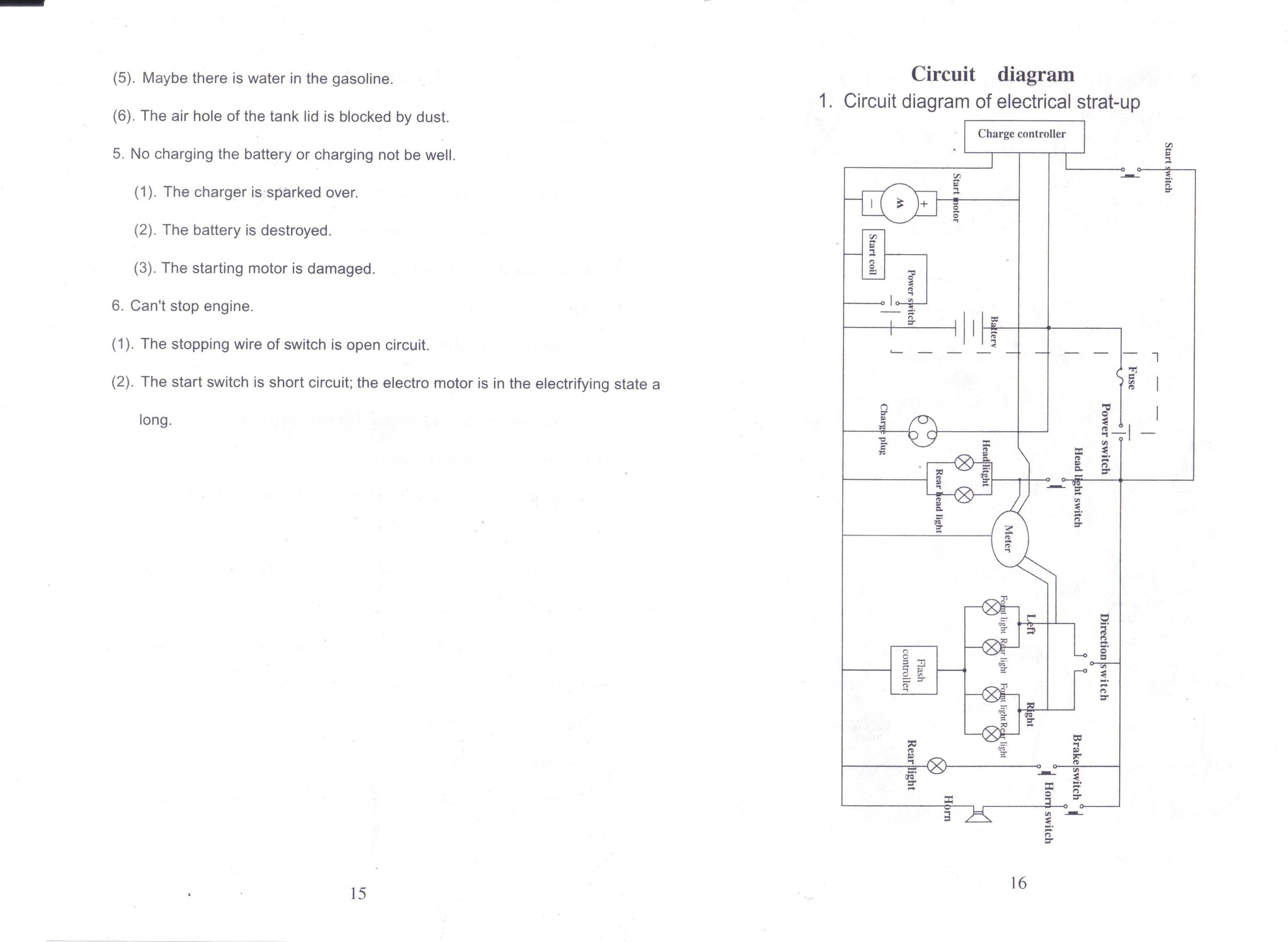 X1 Mini Bike Wiring Diagram