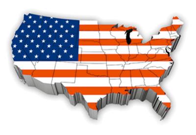 Flag - USA map 2