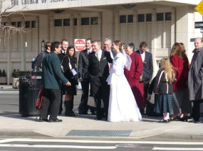 As we were getting organized for the large group photo, this man, who is a member of the Church, came up and spoke to us.