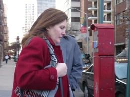 Tania crossing West 65th Street