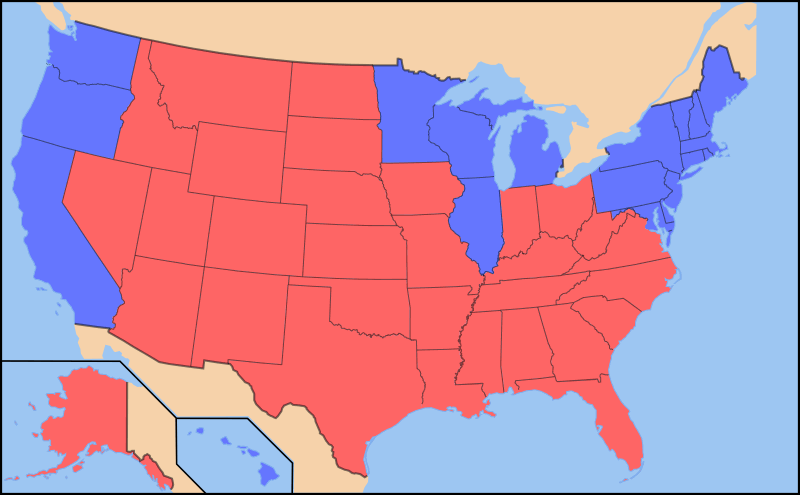 Image result for Red States of America