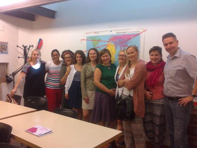 Delegació polaca de l'Associació de la solidaritat global (Stowarzyszenie Solidarności Globalnej) octubre 2014