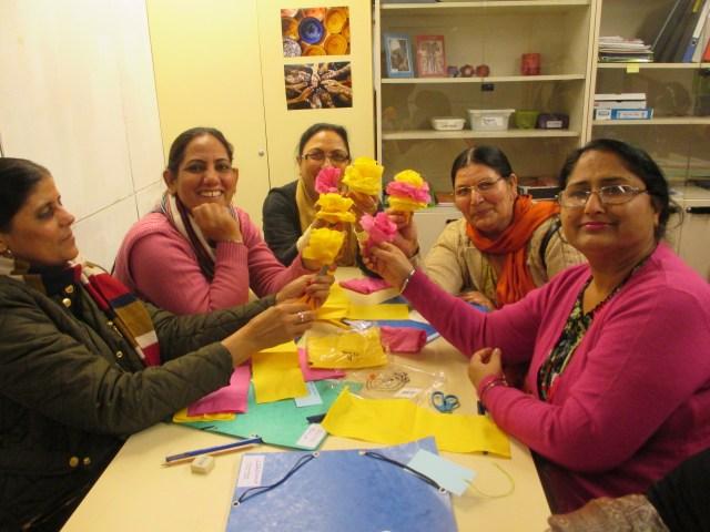 preparant dia contra la violència envers les dones flors novembre 2014