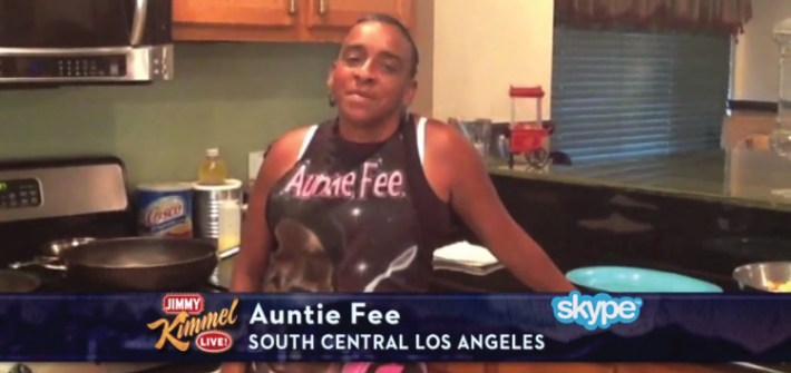 dialna-auntie-fee-cooks-on-jimmy-kimmel-live