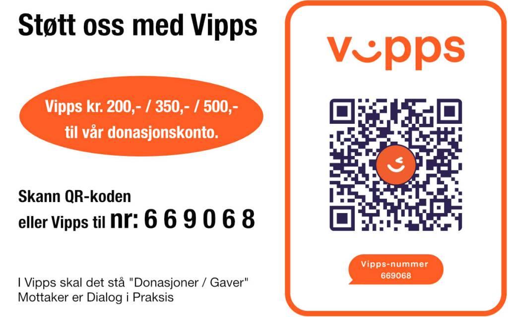 Støtt vår virksomhet med Vipps