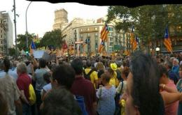 Demonstration am Donnerstag zum angeblichen Jahrestag der Rebellion in Barcelona. Bild: CDR