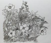 Ink groep bloemen
