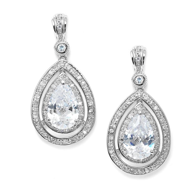 Wedding Earrings Pink Diamond Earrings