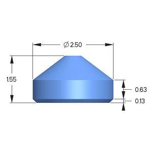 Sapphire Anvil, Diacell Design; X=3.10mm; H=1.70mm
