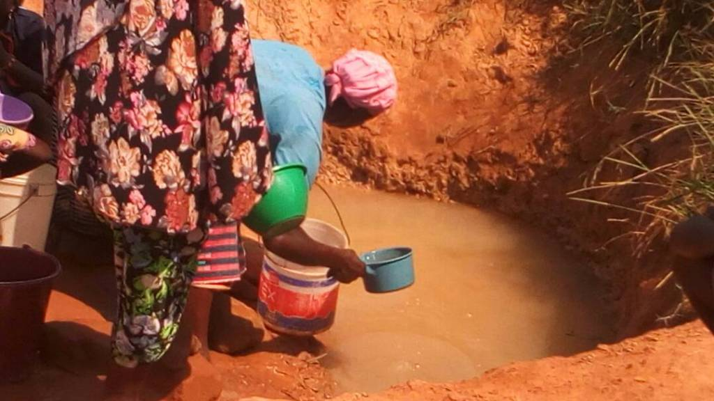 the unhygenic water source, for residnts of Koblimahigu and other adjourning communities