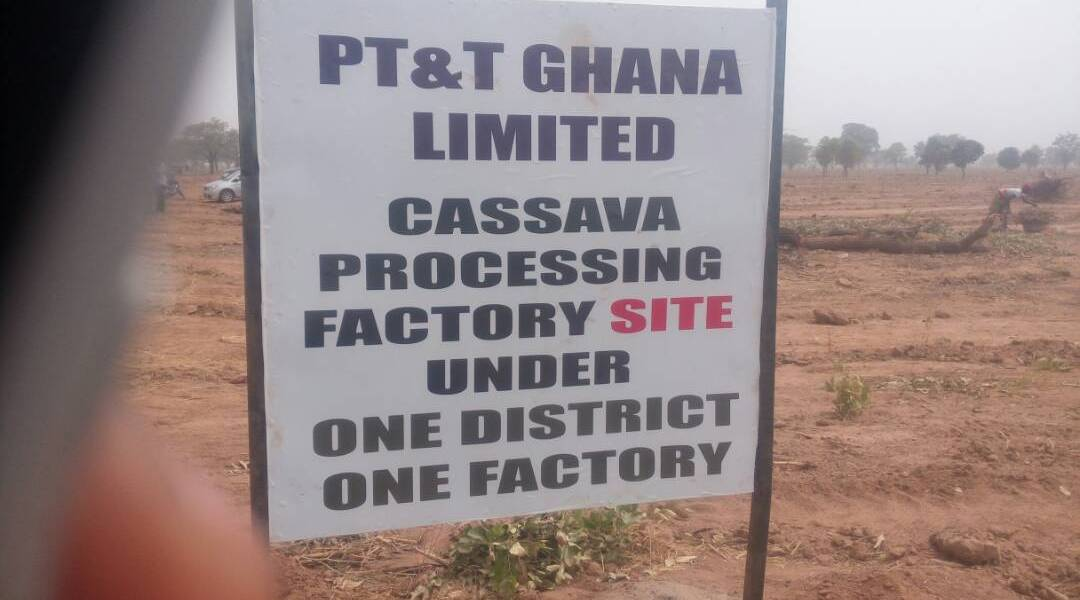 Diare to get a cassava processing factory, under the 1 District 1 factory initiative
