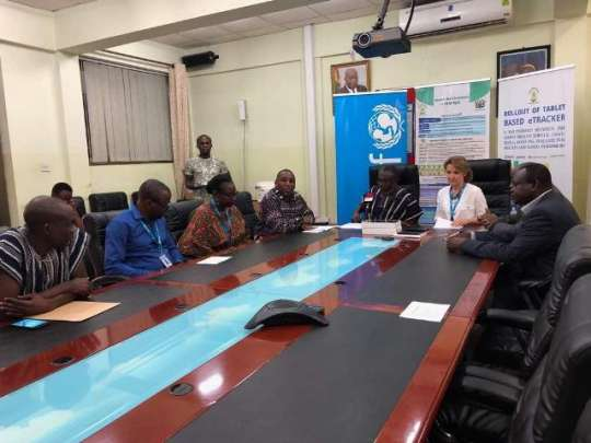 UNICEF supports Ghana Health Service with 230 computer tablets