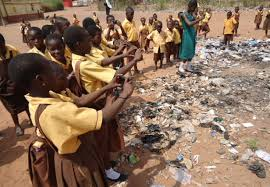 Staff and pupils of the Lamashegu cluster of schools fume over insanitary practices on the school compound