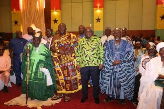 PRESIDENT AKUFO-ADDO SAYS HE HAS NO PREFERRED CANDIDATE AS FAR AS WHO BECOMES THE NEXT DAGBON OVERLORD (YAA NAA) IS CONCERNED