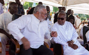 Rawlings congratulates Mahama, but says his win is just the first step