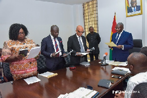 Vice President Bawumia swears in Commission of Enquiry and task them to work with integrity