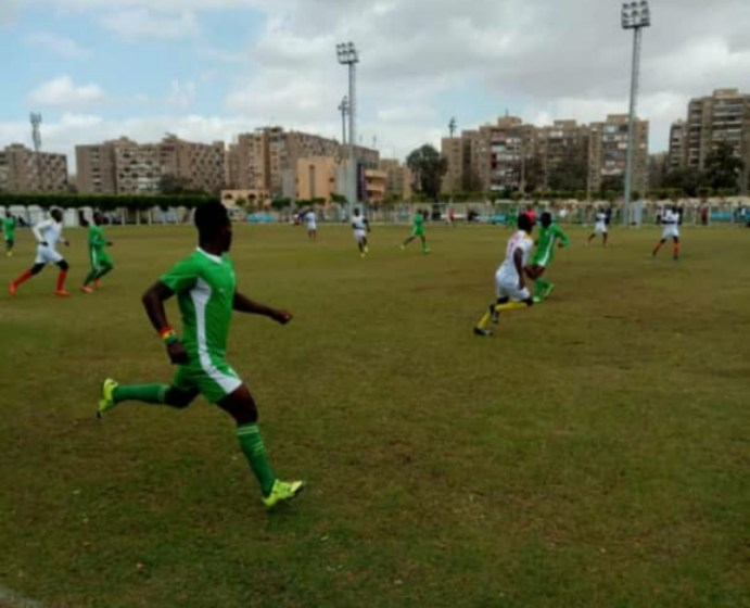 Taufiq Alolo scores to send UDS to the semi finals of the Africa Universities Olympic Games