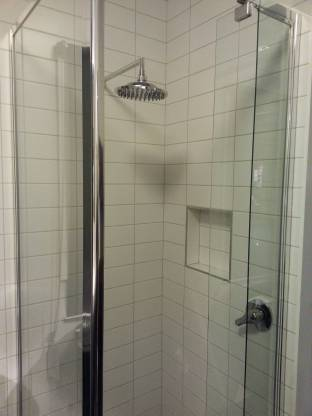 Although very common and useful, shower niches can cause issues with waterproofing, mould and grime. If space allows, opt for a simple glass shelf instead.