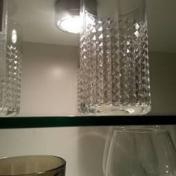 Avoid using protruding downlights inside your cabinets: especially if the cabinet has a short internal height!