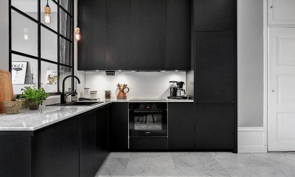 black tapware kitchen