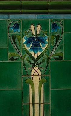 Art Deco Wall Tile Pattern