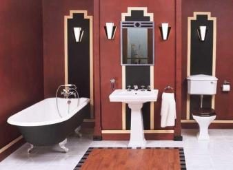 Bold, masculine and structured Art Deco bathroom design