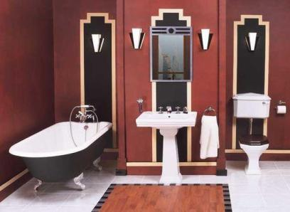 Bold, masculine and structured Art Deco bathroom design