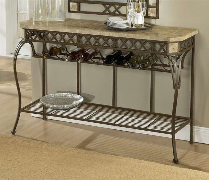 iron hall table