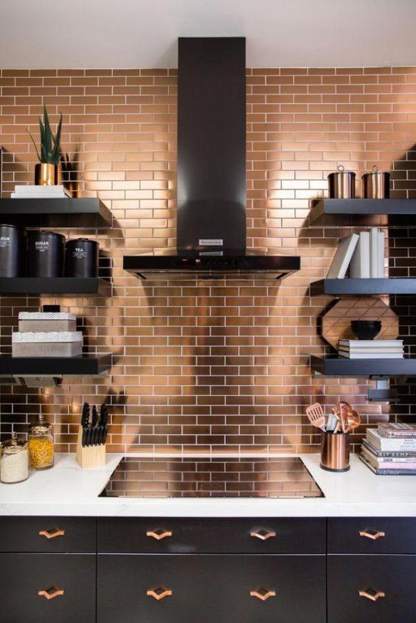 Metallic Kitchen - Top 5 Colourful Kitchens - Diamond Interiors Blog
