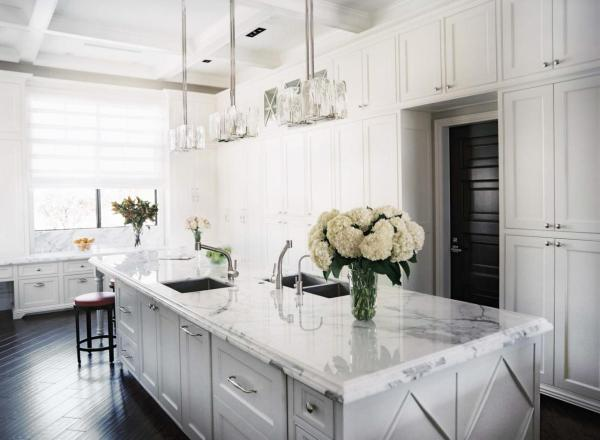 classic styled kitchen - marble benchtop
