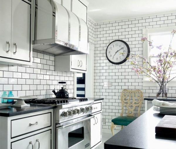 white kitchen - art deco