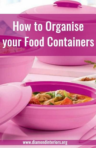 how to organise your tupperware and food containers