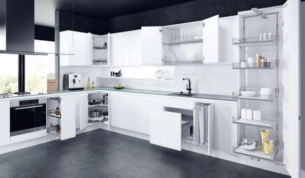 modern kitchen ideas - white kitchen