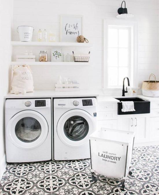 Laundry design and storage ideas