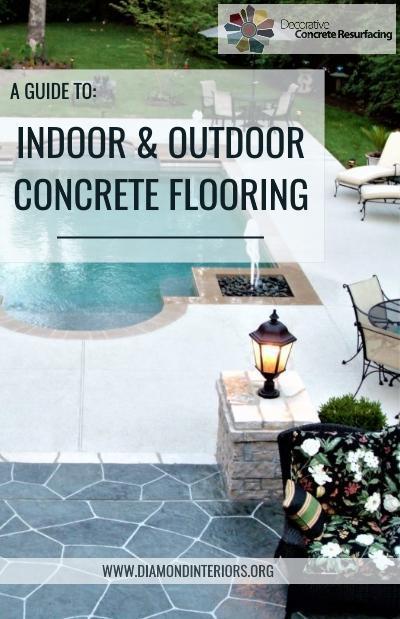 indoor and outdoor concrete flooring ideas