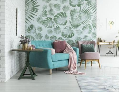 botanical feature wall
