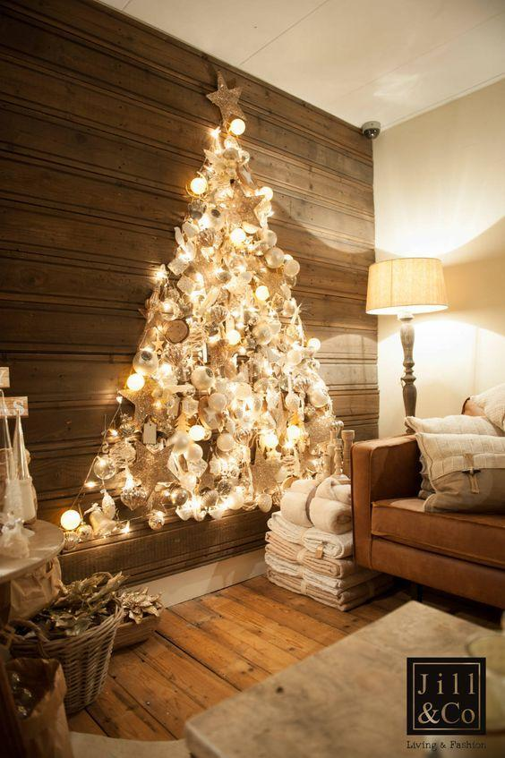 Top 6 Alternative Christmas Tree Ideas - Decorative wall tree