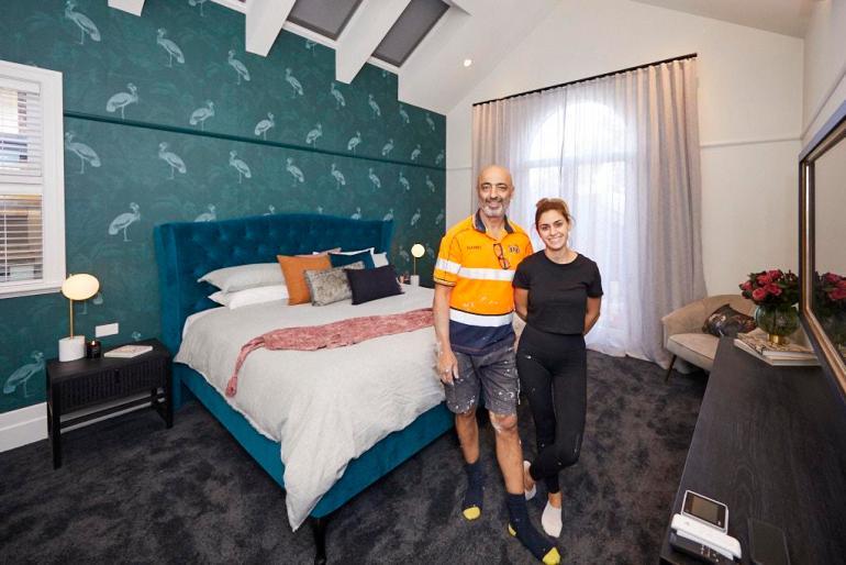 Master Bedroom Harry and Tash